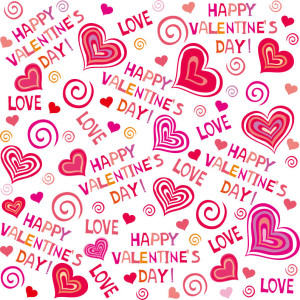 Valentines Day Seamless Pattern Vector Background